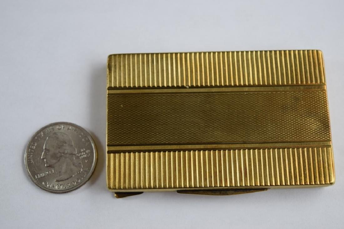 14K GOLD CIGARETTE CASE BOX MATCH VESTA - 7