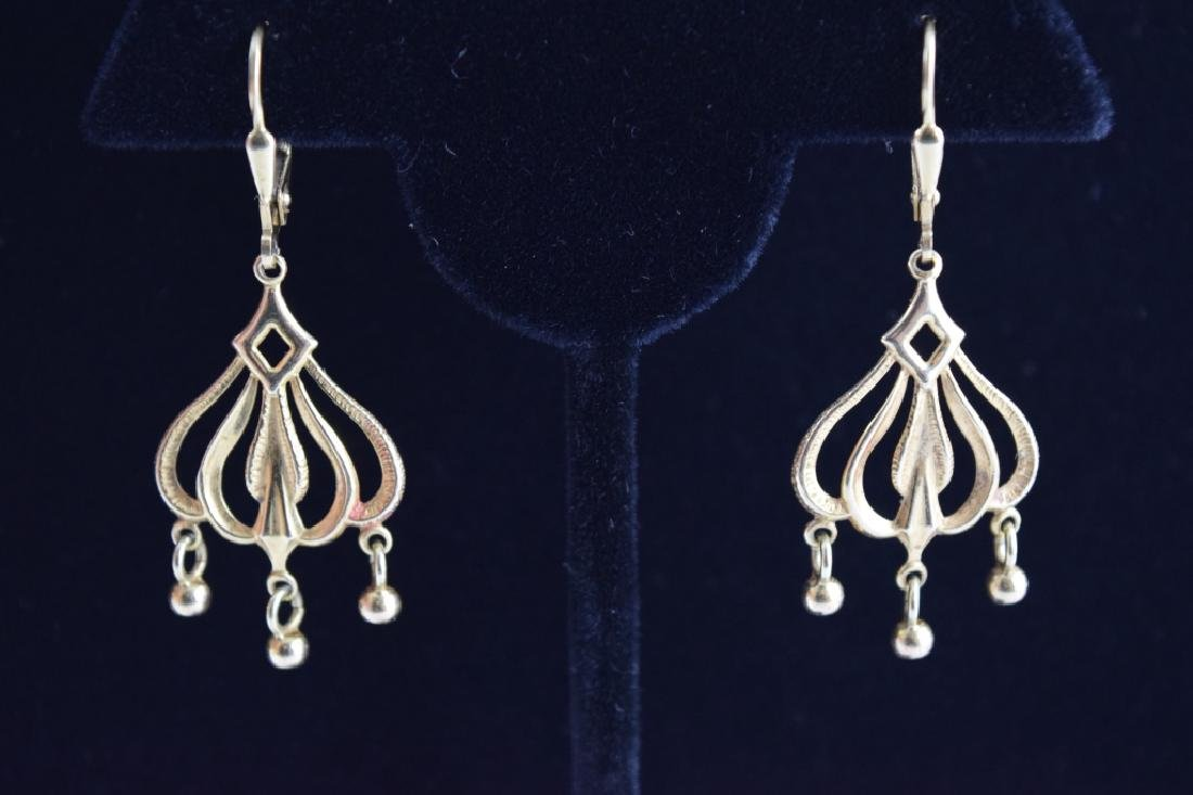 14K GOLD DANGLE ITALIAN CHANDELIER EARRINGS - 6