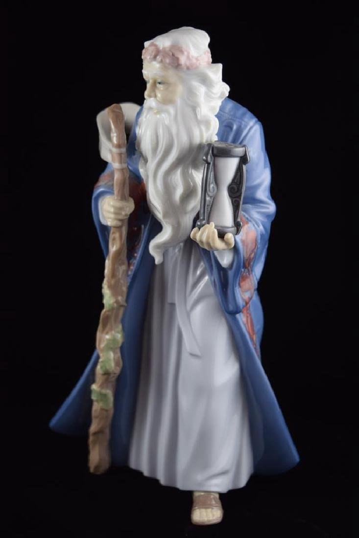 RETIRED LLADRO PORCELAIN FATHER TIME #6696 - 2