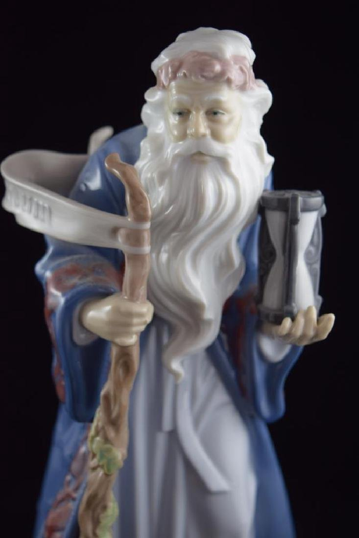 RETIRED LLADRO PORCELAIN FATHER TIME #6696 - 8