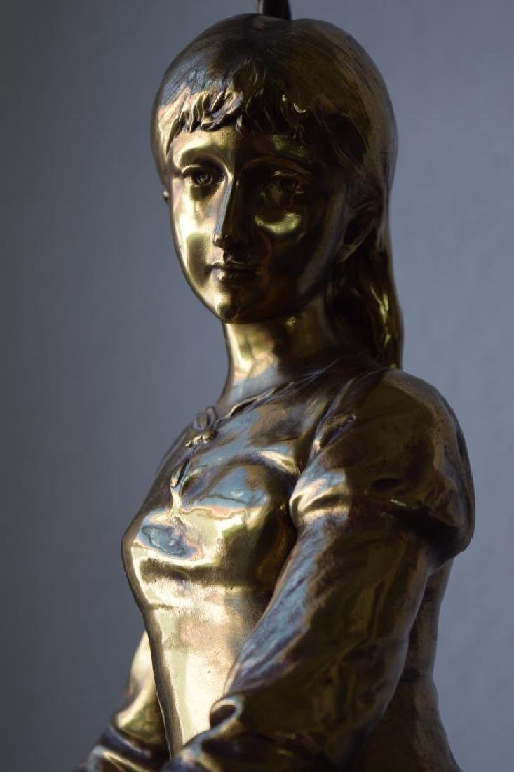 MARGUERITE WOMAN BRONZE LAMP ADRIAN ETIENNE GAUDEZ - 11