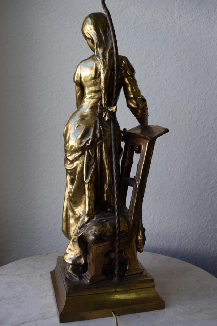 MARGUERITE WOMAN BRONZE LAMP ADRIAN ETIENNE GAUDEZ - 5