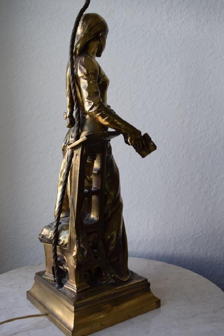 MARGUERITE WOMAN BRONZE LAMP ADRIAN ETIENNE GAUDEZ - 6