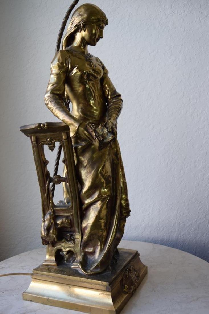 MARGUERITE WOMAN BRONZE LAMP ADRIAN ETIENNE GAUDEZ - 7
