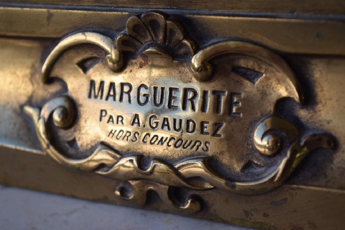 MARGUERITE WOMAN BRONZE LAMP ADRIAN ETIENNE GAUDEZ - 9