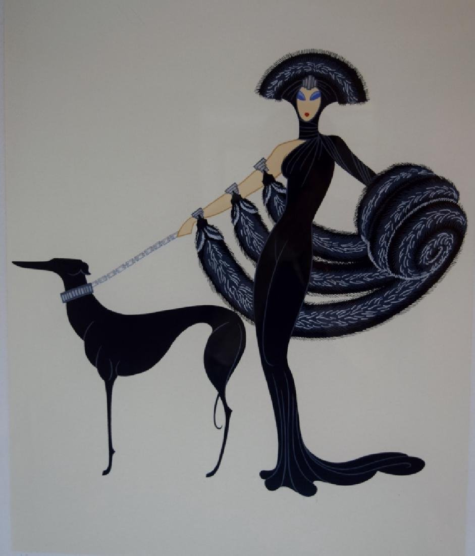 ERTE SYMPHONY IN BLACK SIGNED A.P. SERIGRAPH