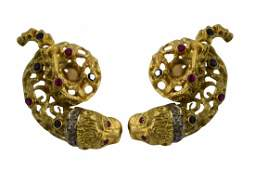 18K GOLD LALAOUNIS STYLE CHIMERA EARRINGS