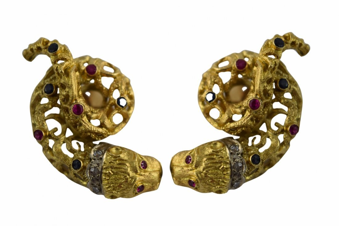 18K GOLD LALAOUNIS STYLE? CHIMERA EARRINGS