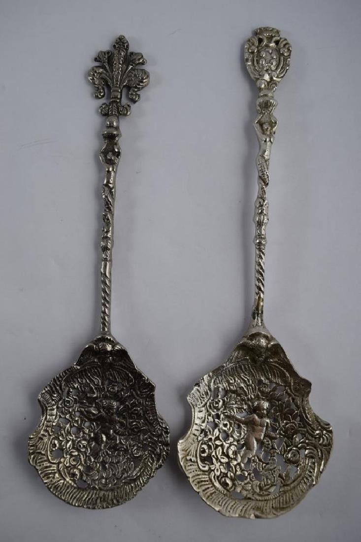2 ALLAN ADLER STERLING SILVER SERVING SPOONS
