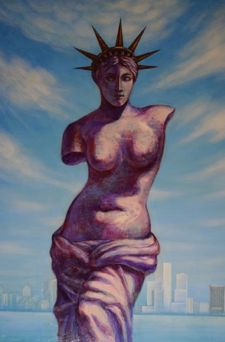 ANASTASIA THE GREAT LADY LIBERTY BUST PAINTING
