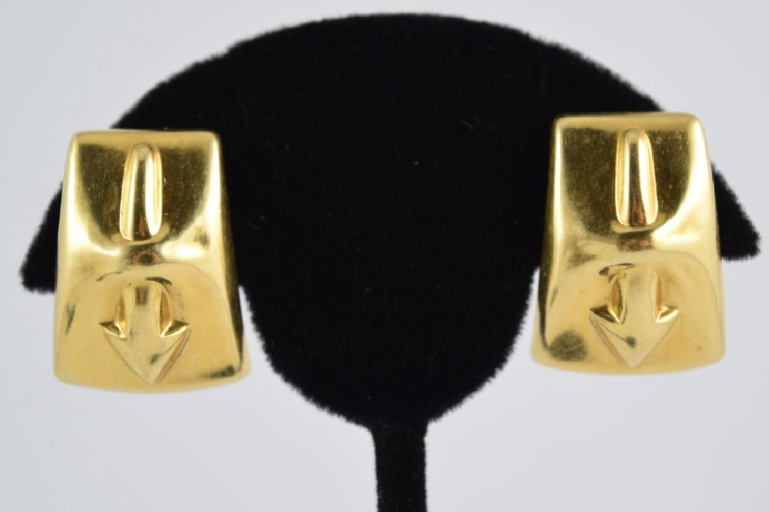 VINTAGE 18K GOLD ITALIAN FIGURAL ARROW EARRINGS