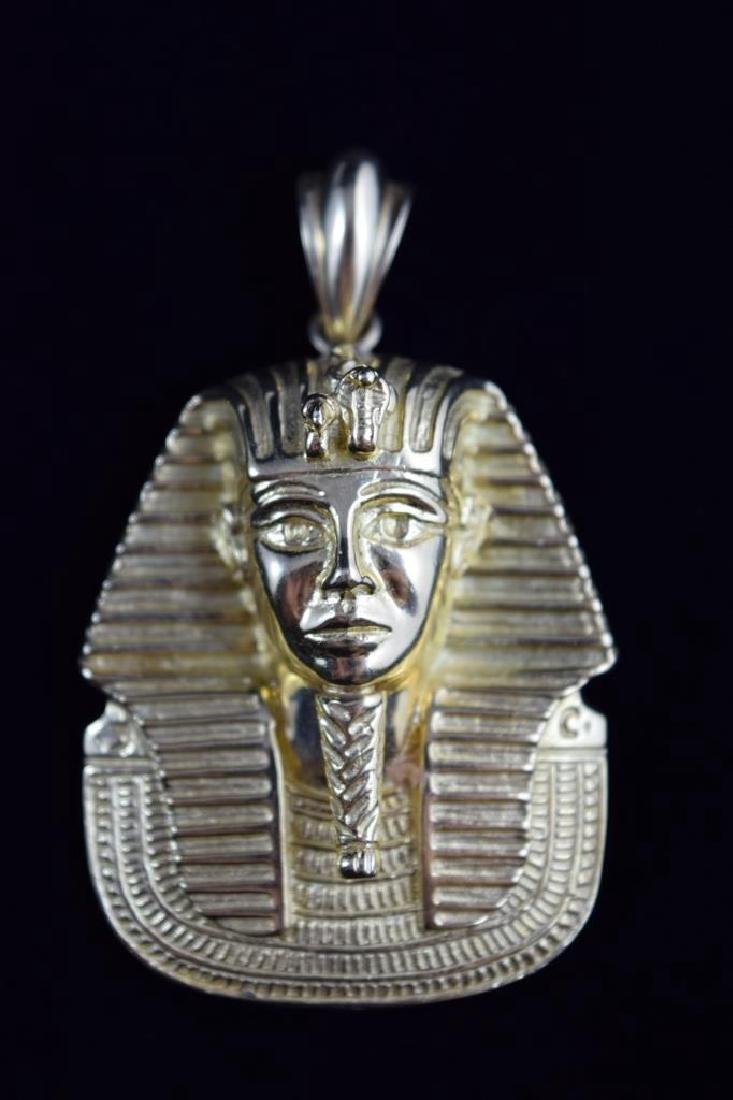 LARGE 18K GOLD EGYPTIAN KING TUTANKHAMUN PENDANT - 6
