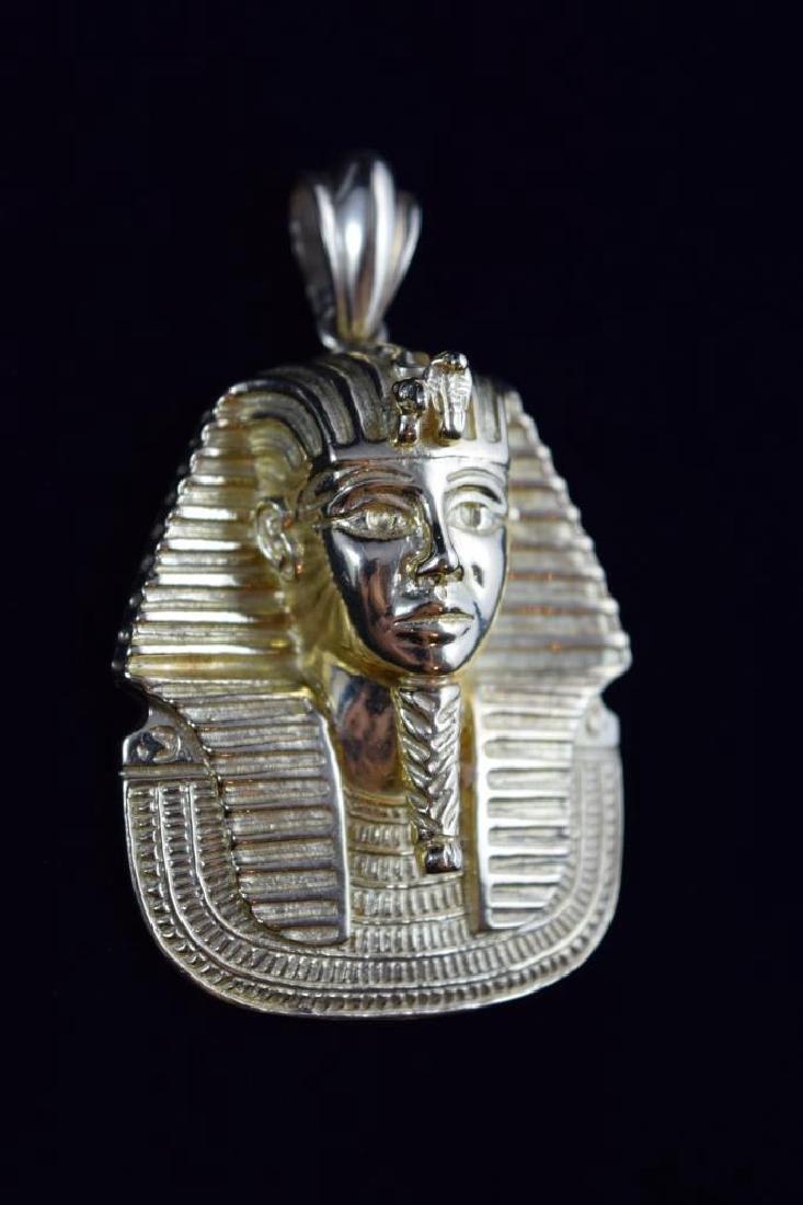 LARGE 18K GOLD EGYPTIAN KING TUTANKHAMUN PENDANT - 7