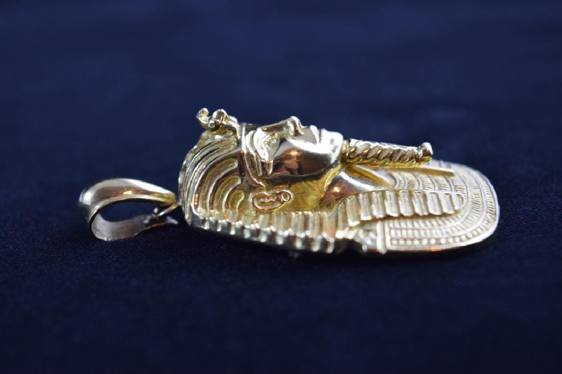 LARGE 18K GOLD EGYPTIAN KING TUTANKHAMUN PENDANT - 8