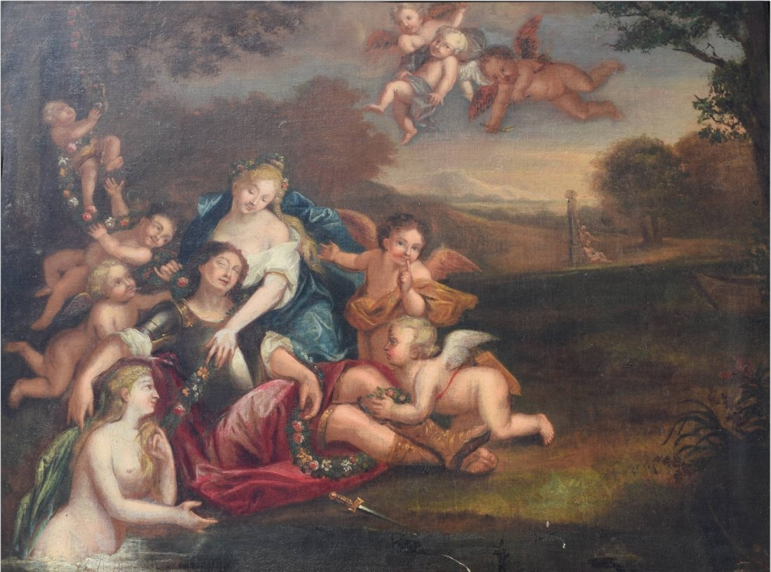 17TH C. FRANCISCO ALBANI OIL ON CANVAS PAINTING