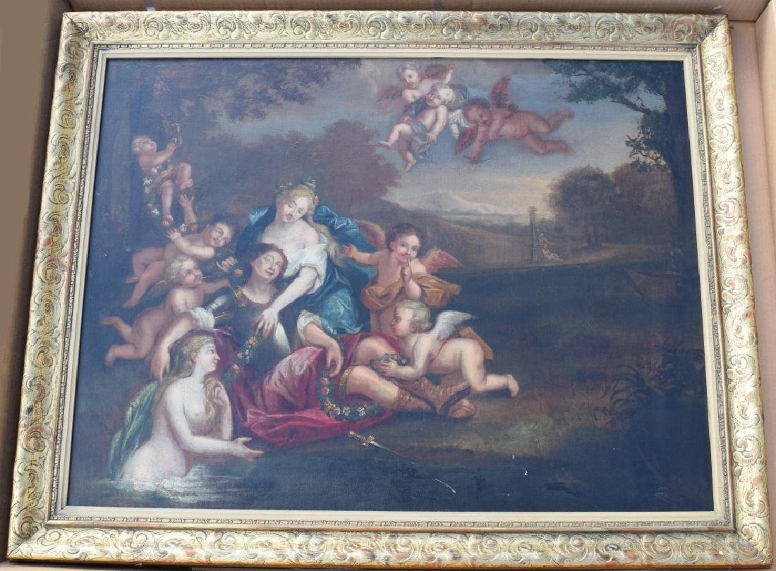 17TH C. FRANCISCO ALBANI OIL ON CANVAS PAINTING - 2