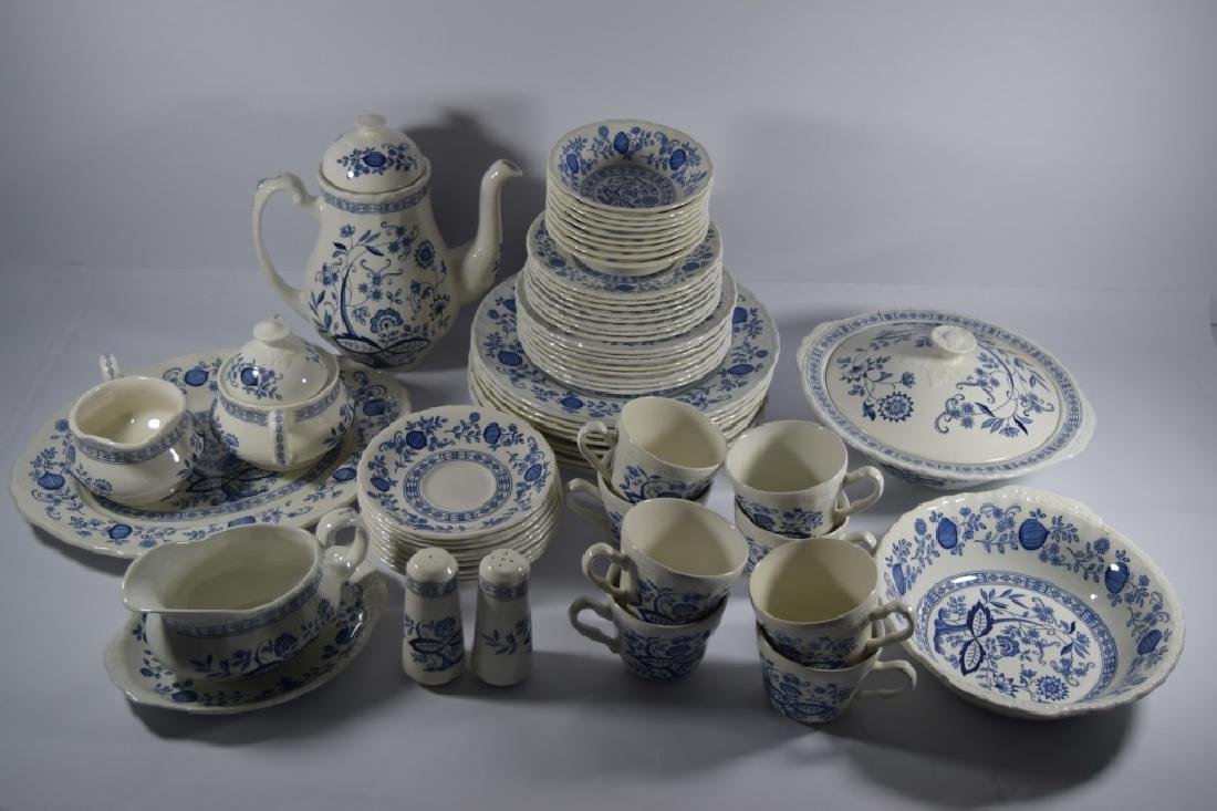 60pcs BLUE HERITAGE ENOCH WEDGWOOD CHINA