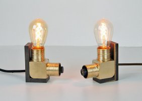 Industrial Brass Table Lamps