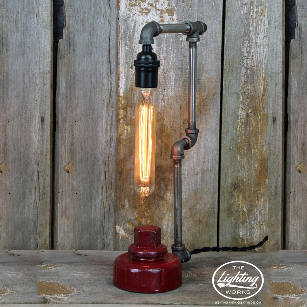 Industrial Steampunk Fire Hydrant Table Lamp