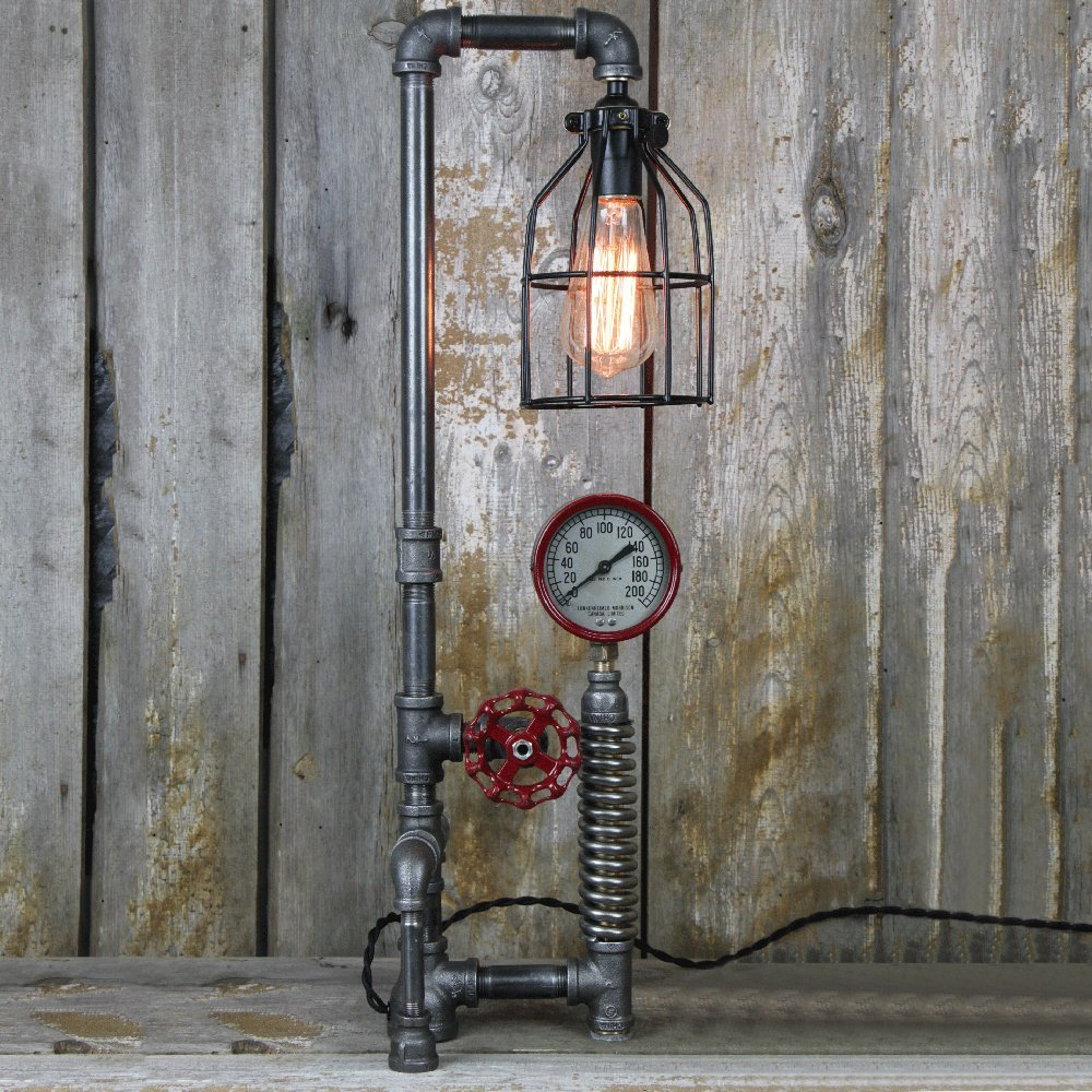 Industrial Steampunk Table Lamp
