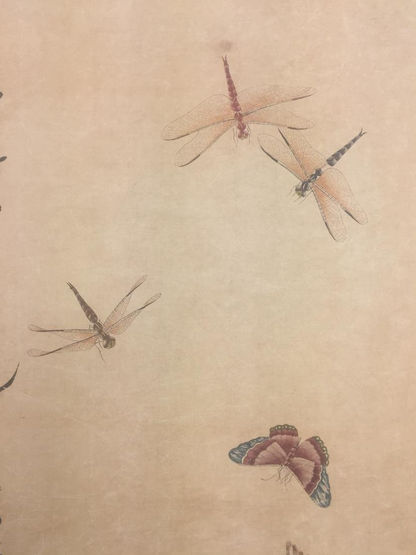 CHINESE SCROLL PAINTING OF INSECTS - 3