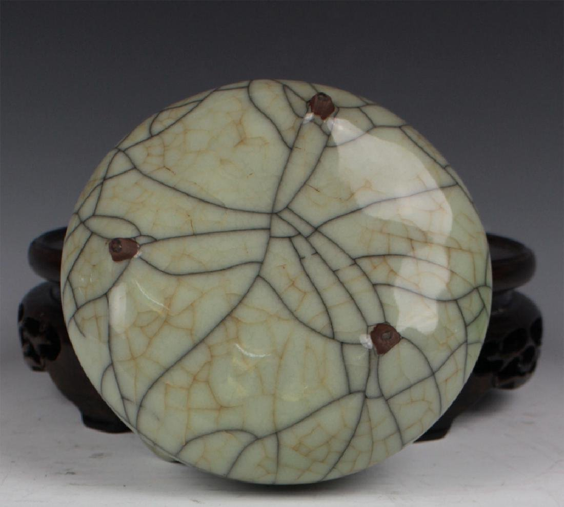 CHINESE PORCELAIN CRACKED GLAZE CENSER - 5