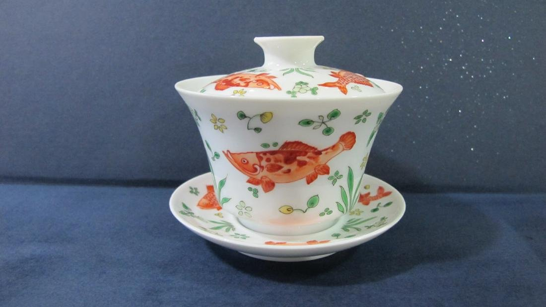 CHINESE PORCELAIN FAMILLE ROSE TEA CUP - 2