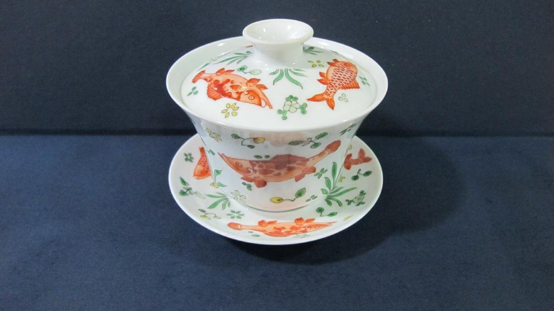 CHINESE PORCELAIN FAMILLE ROSE TEA CUP - 3