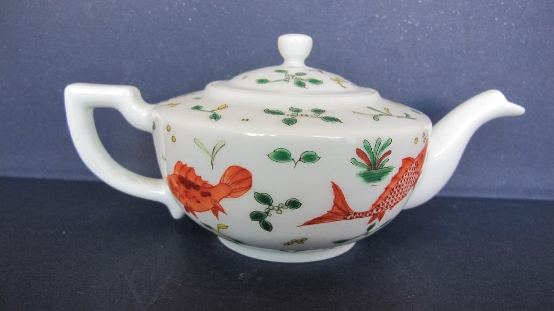 CHINESE PORCELAIN FAMILLE ROSE TEA POT - 3