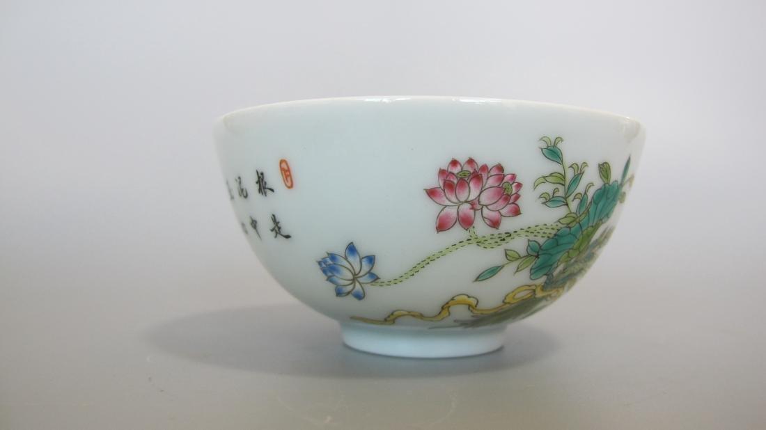 CHINESE PORCELAIN FAMILLE ROSE FLOWER BOWL - 2