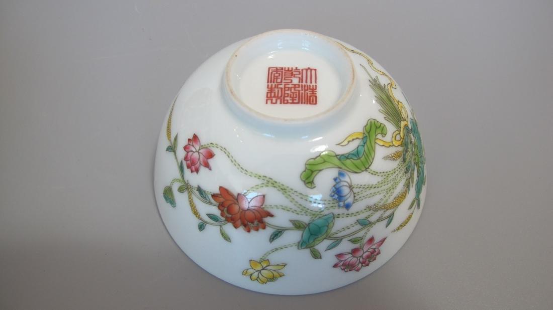 CHINESE PORCELAIN FAMILLE ROSE FLOWER BOWL - 5