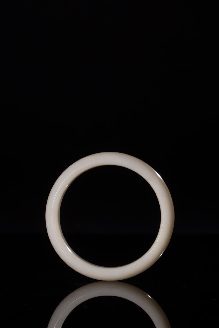 CHINESE HETIAN WHITE JADE BANGLE