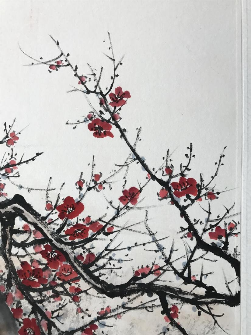 CHINESE SCROLL PAINTING OF BIRD AND ROCK - 3