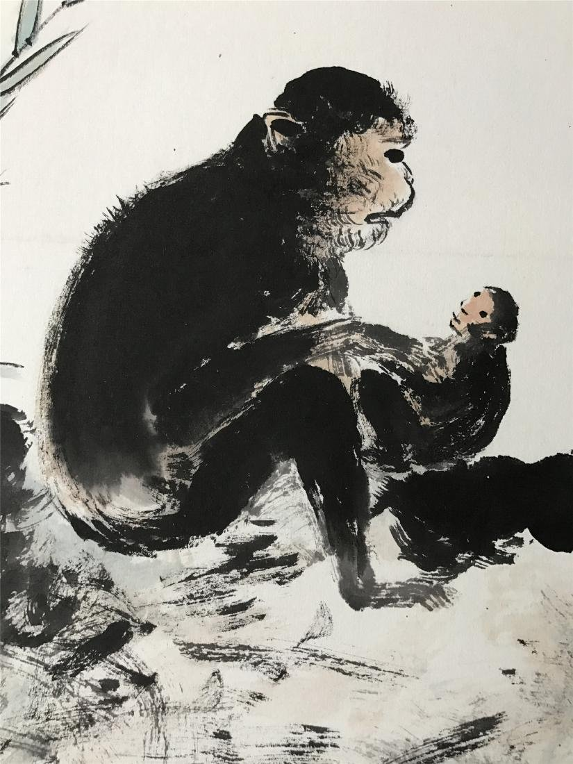 CHINESE SCROLL PAINTING OF MONKEY - 3