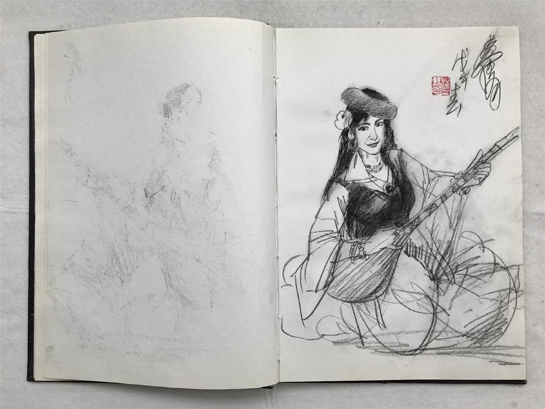 THIRTY-SIX PAGES OF CHINESE ALBUM SKETCH DRAWINGS OF - 10