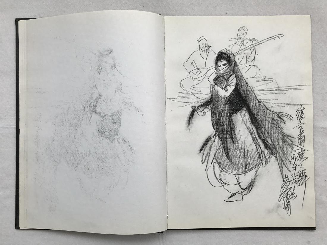 THIRTY-SIX PAGES OF CHINESE ALBUM SKETCH DRAWINGS OF - 11