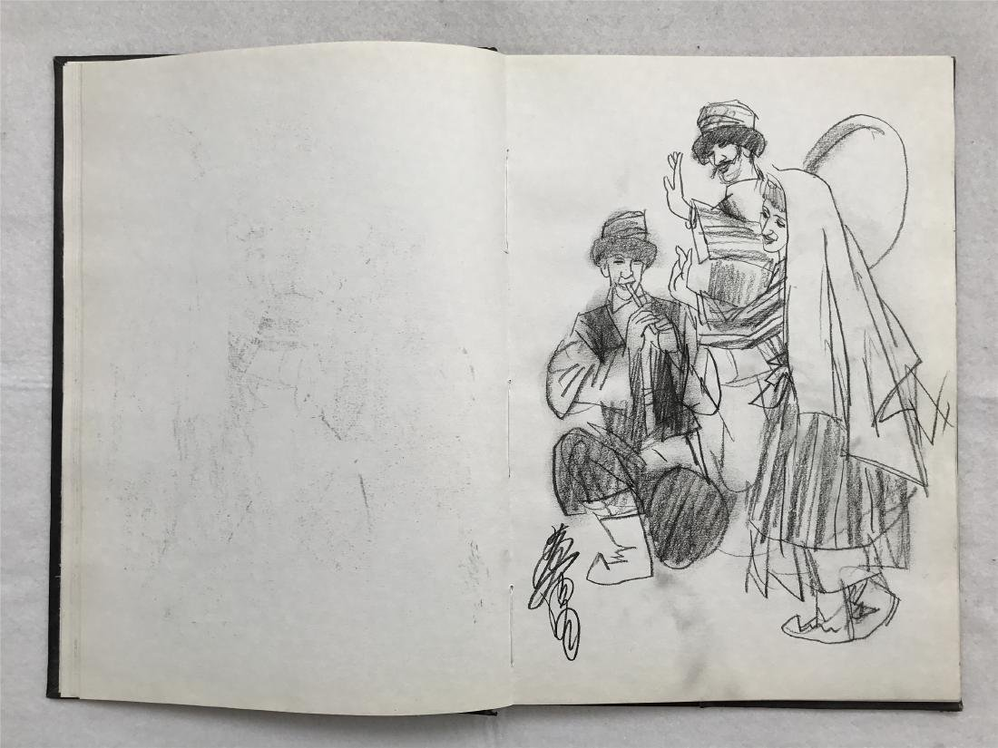 THIRTY-SIX PAGES OF CHINESE ALBUM SKETCH DRAWINGS OF - 13