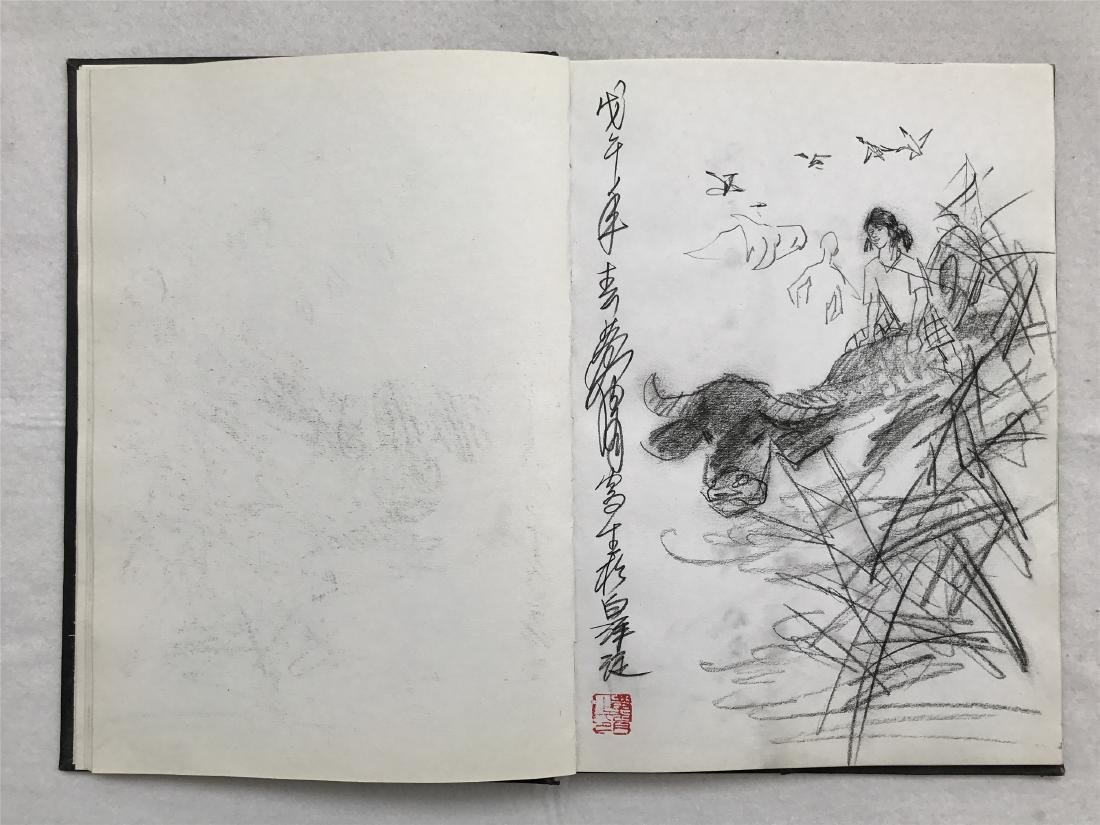 THIRTY-SIX PAGES OF CHINESE ALBUM SKETCH DRAWINGS OF - 15