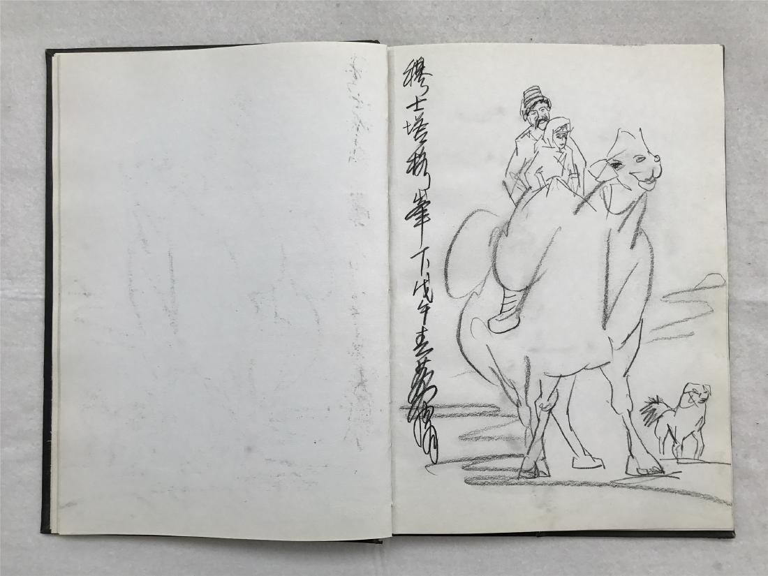 THIRTY-SIX PAGES OF CHINESE ALBUM SKETCH DRAWINGS OF - 16