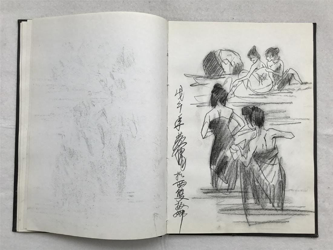 THIRTY-SIX PAGES OF CHINESE ALBUM SKETCH DRAWINGS OF - 19