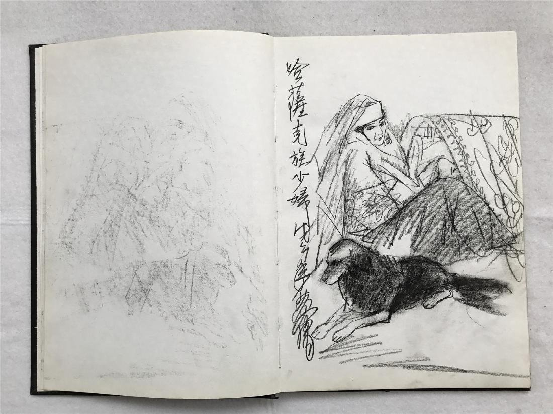 THIRTY-SIX PAGES OF CHINESE ALBUM SKETCH DRAWINGS OF - 5