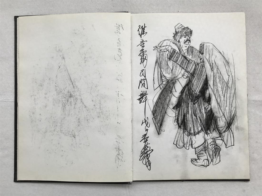 THIRTY-SIX PAGES OF CHINESE ALBUM SKETCH DRAWINGS OF - 7