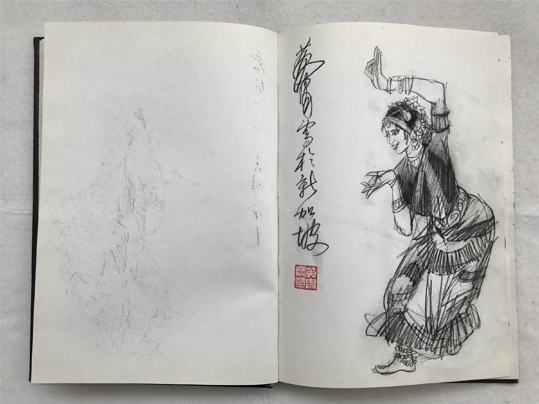 THIRTY-SIX PAGES OF CHINESE ALBUM SKETCH DRAWINGS OF - 8