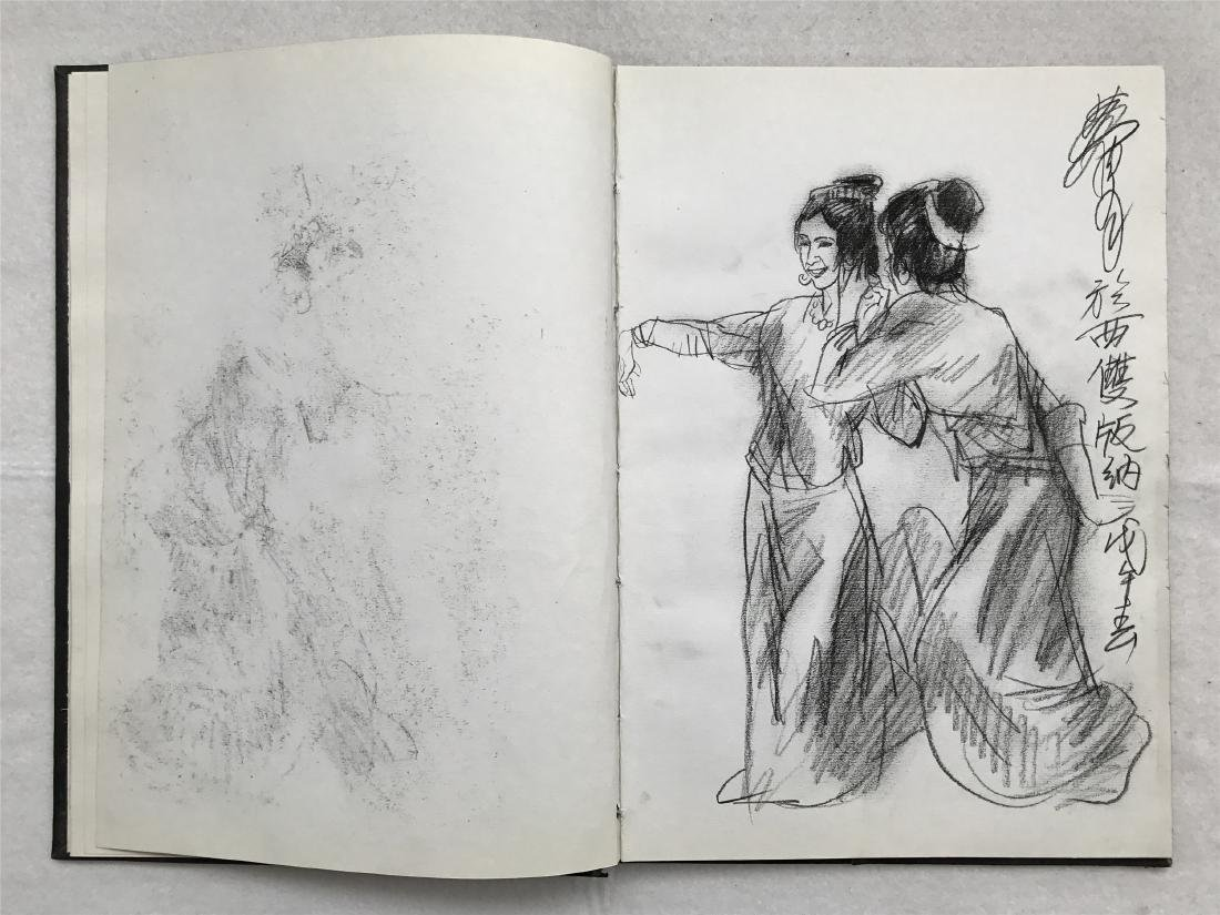 THIRTY-SIX PAGES OF CHINESE ALBUM SKETCH DRAWINGS OF - 9