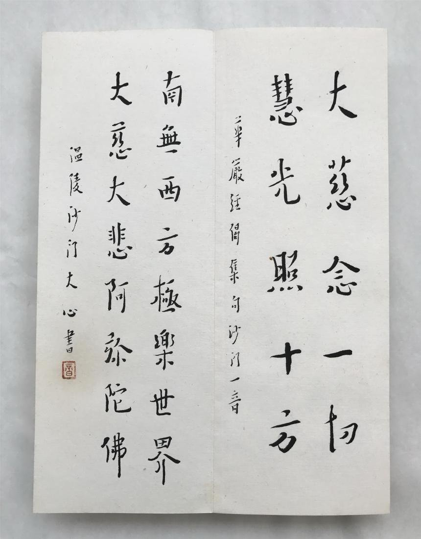 FORTY-EIGHT PAGES OF CHINESE ALBUM CALLIGRAPHY - 20