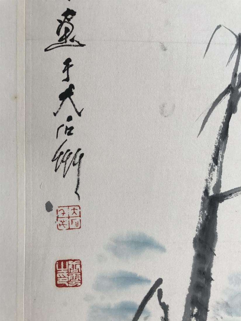 CHINESE SCROLL PAINTING OF BIRDS AND BAMBOO - 2