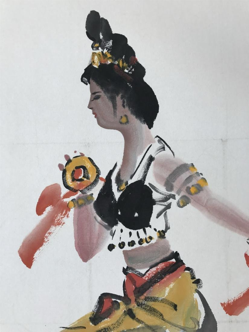 CHINESE SCROLL PAINTING OF DANCER - 2