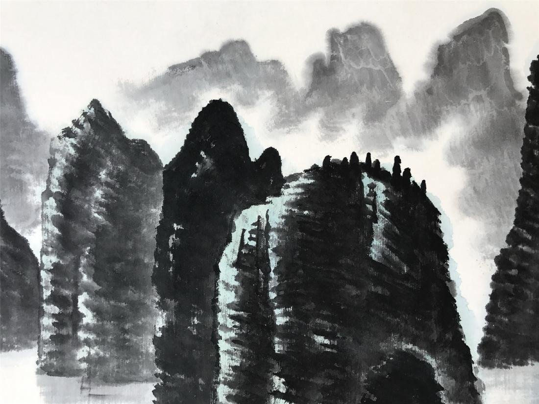 CHINESE SCROLL PAINTING OF LAKEVIEWS - 5