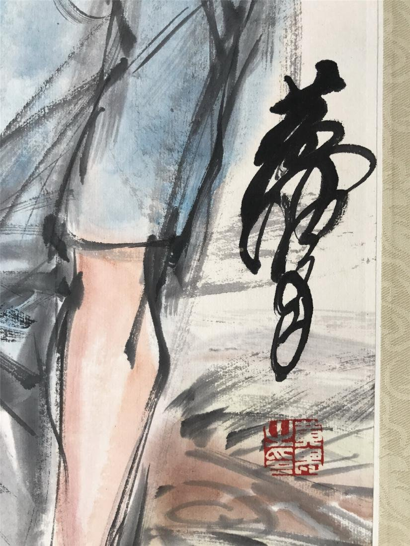 CHINESE SCROLL PAINTING OF GIRL - 2