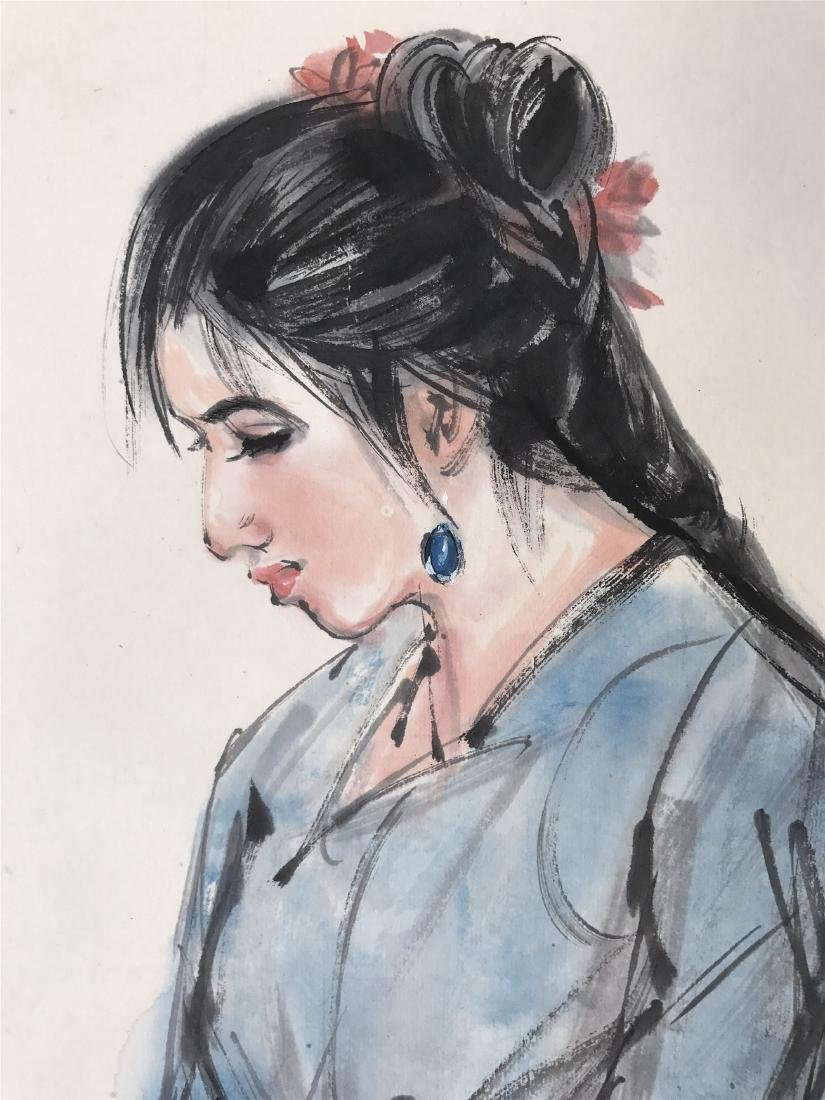 CHINESE SCROLL PAINTING OF GIRL - 3